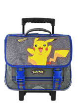 Cartable à Roulettes Electric Pokemon Gris pika pika 160-8486