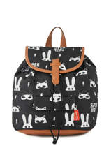 Sac à Dos Kidzroom Gris black and white 30-8177