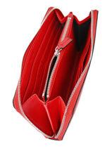 Portefeuille Calvin klein jeans Rood sculpted monogramme K605547-vue-porte