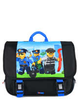 Cartable 2 Compartiments Lego Noir city police chopper 10069-35