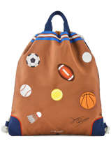 Sporttas City Bag Jeune premier Bruin canvas CIN19