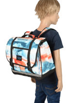 Cartable 2 Compartiments Rip curl Bleu photo script BBPNG4-vue-porte