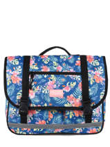 Cartable 2 Compartiments Rip curl Bleu toucan flora LBPQF4