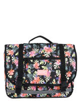 Cartable 2 Compartiments Rip curl Noir toucan flora LBPQF4