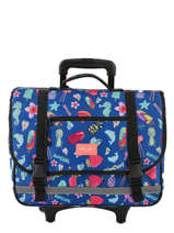Cartable à Roulettes 2 Compartiments Rip curl Bleu summer time LBPQB4