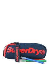 Trousse 1 Compartiment Superdry Bleu accessories men M98120MU-vue-porte