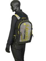 "Rugzak Monoline Tarp + 15"" Laptopvak Superdry Grijs backpack men M91802MU-vue-porte"