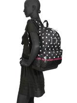 Sac à Dos 1 Compartiment Superdry Noir backpack woomen G91903JT-vue-porte