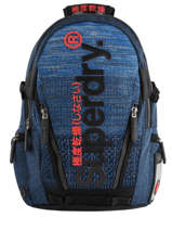 "Sac à Dos Knip Tarp 2 Compartiments + Pc15"" Superdry Bleu backpack men M91800JU"