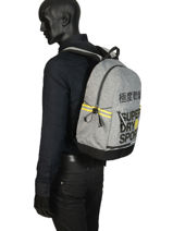 Sac à Dos 1 Compartiment Superdry Gris backpack men MS4100JU-vue-porte
