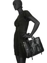 Longchamp Longchamp 3d rock Sac porté main Noir-vue-porte