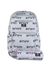 Sac à Dos Avec Trousse Offerte Roxy Gris back to school RJBP3952