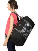 Sac De Voyage Cabine Luggage Neoprene Roxy Noir luggage neoprene RJBL3162-vue-porte