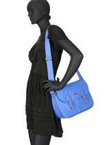 Longchamp Le pliage club Besace Bleu-vue-porte