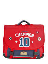 Cartable 2 Compartiments Pol fox Rouge garcon G-CA38