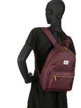 Sac à Dos 1 Compartiment Herschel Rouge classics woman 10502-vue-porte