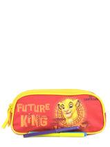 Pennenzak 2 Compartimenten Le roi lion Oranje king ROINI00-vue-porte