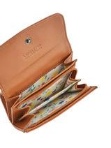 Portemonnee Leder Lancaster Bruin soft vintage nova 21-vue-porte