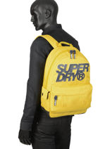 Rugzak 1 Compartiment Superdry Zwart backpack men M9100015-vue-porte