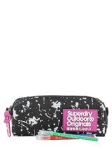 Trousse 1 Compartiment Superdry Noir accessories woomen W9800010-vue-porte