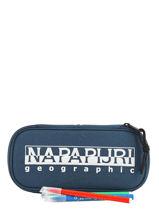Trousse Napapijri Bleu geographic NOYID4-vue-porte