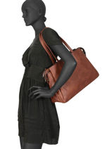 Shoppingtas Format A4 Gallantry Bruin format a4 R1529-1-vue-porte