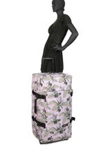 Soepele Reiskoffer Authentic Luggage Eastpak Roze authentic luggage K63L-vue-porte