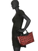 Longchamp Le pliage lgp Sac porté main Noir-vue-porte