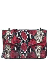 Sac Bandoulière Python Milano Rouge python PI19061