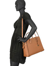 Sac Porté Main A4 Mercer Belted Cuir Michael kors Marron mercer belted S9GM9S3L-vue-porte