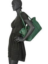 Sac Shopping Tradition Cuir Etrier Vert tradition EHER25-vue-porte