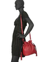 Bucket Bag M Wellington Leder Etrier Zwart wellington EWEL01-vue-porte