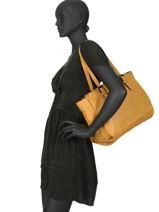 Sac Shopping A4 Gracieuse Hexagona Jaune gracieuse 316137-vue-porte