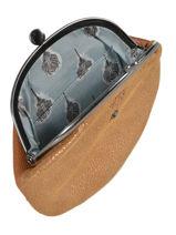Porte-monnaie Glitter Cuir Mila louise Noir vintage 3304G-vue-porte