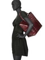 Schoudertas L Le Cabas Gekreukeld Leder Vanessa bruno Violet cabas cuir 82V40411-vue-porte