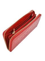 Portefeuille Cuir Lancaster Rouge exotic croco 126-26-vue-porte