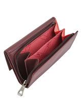 Longchamp Roseau Portefeuille Rouge-vue-porte