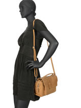 Sac Bandoulière About Ally Cuir Burkely Marron about ally 545429-vue-porte
