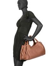 Sac Shopping  24h Gd Cuir Gerard darel Marron gd DKS31410-vue-porte
