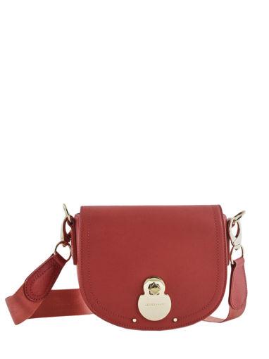 Longchamp Cavalcade Sac porté travers Rouge