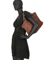 Sac Trapeze Foulard Pulsar Desigual Noir foulard pulsar 19WAXA07-vue-porte