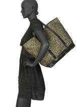 Le Cabas M+ Le Cabas Lurex Paillettes Vanessa bruno Noir cabas 47V40411-vue-porte