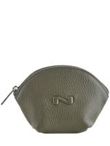 Porte-monnaie Cuir Nathan baume Vert original n 340N