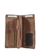 Portefeuille Heritage Cuir Biba Marron accessoires MIL5L-vue-porte