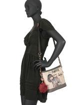 Sac Bandoulière Couture Anekke Beige couture 29882-55-vue-porte