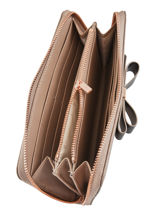Portefeuille Bow Detail Ted baker Marron bow detail AINE2-vue-porte