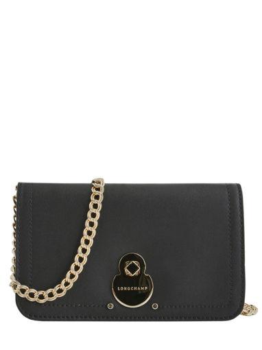 Longchamp Cavalcade Portefeuille Noir