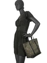 Le Cabas Moyen Lurex Paillettes Vanessa bruno Noir cabas 47V40413-vue-porte