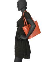 Sac Shopping Croco Cuir Milano Orange croco CR15013-vue-porte