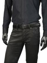 Ceinture Homme Charlie Cuir Lacoste Noir belt RC4010-vue-porte